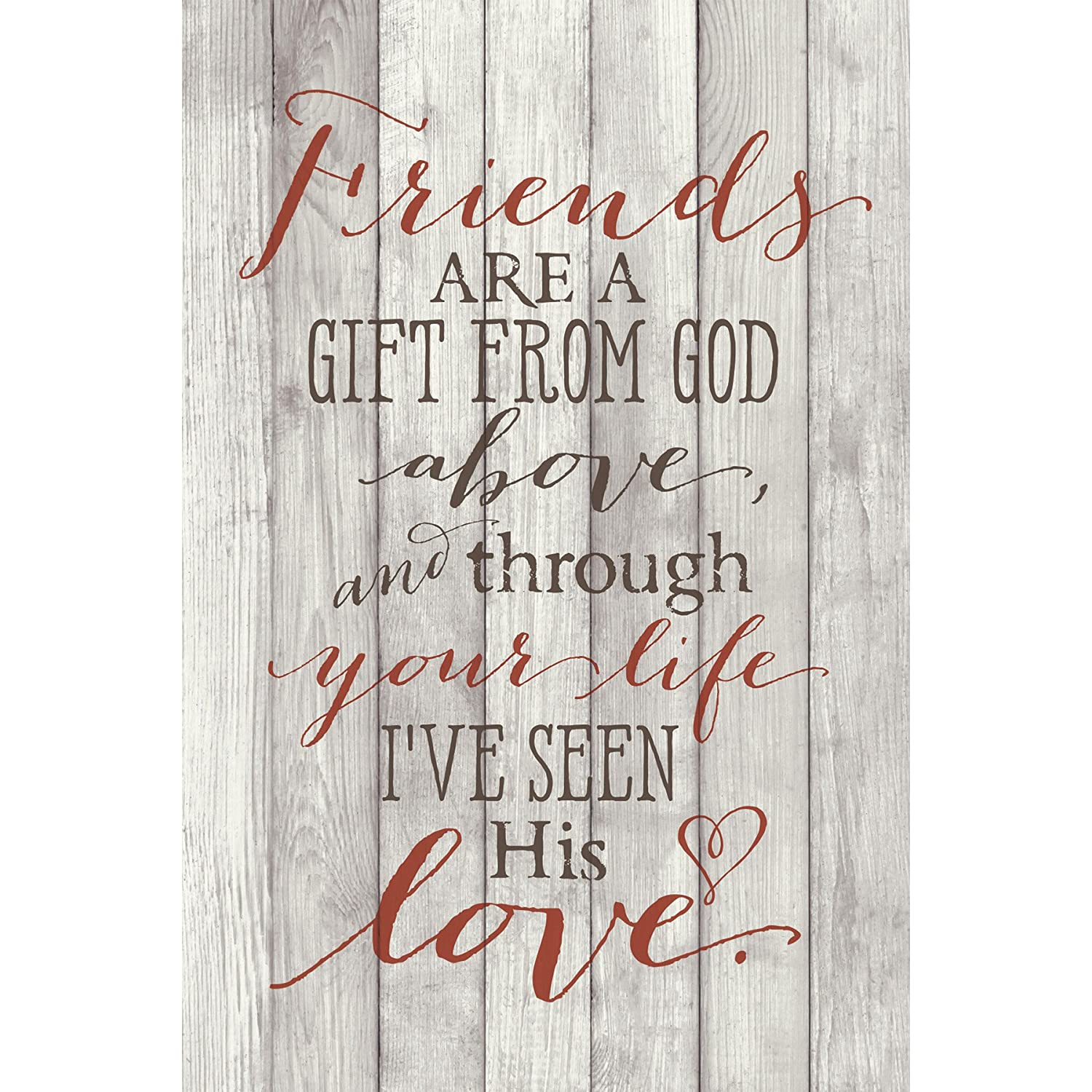 Dexsa Friends are A Gift /…New Horizons Wood Plaque with Easel