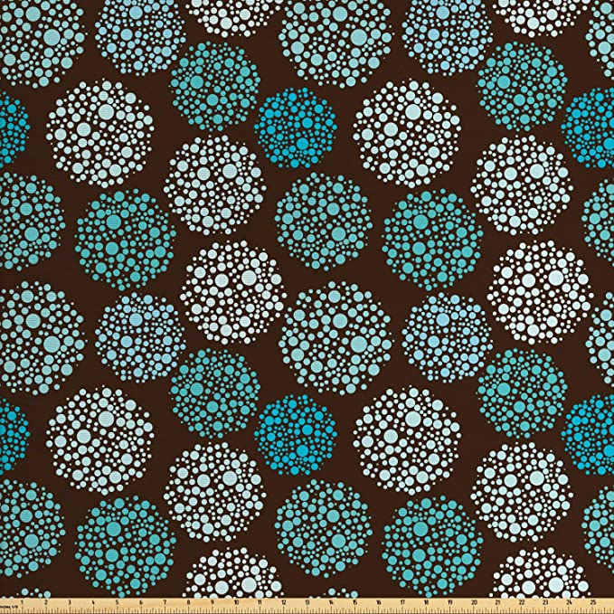 New Colourful Oval Leaf Moroccan Pattern Soft Woven Curtain Upholstery Fabric
