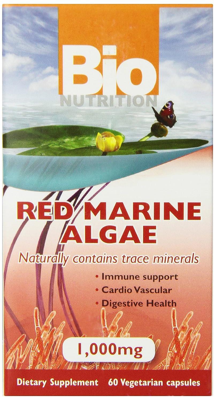 Bio Nutrition Red Marine Algae Vegi-Caps, 60 Count