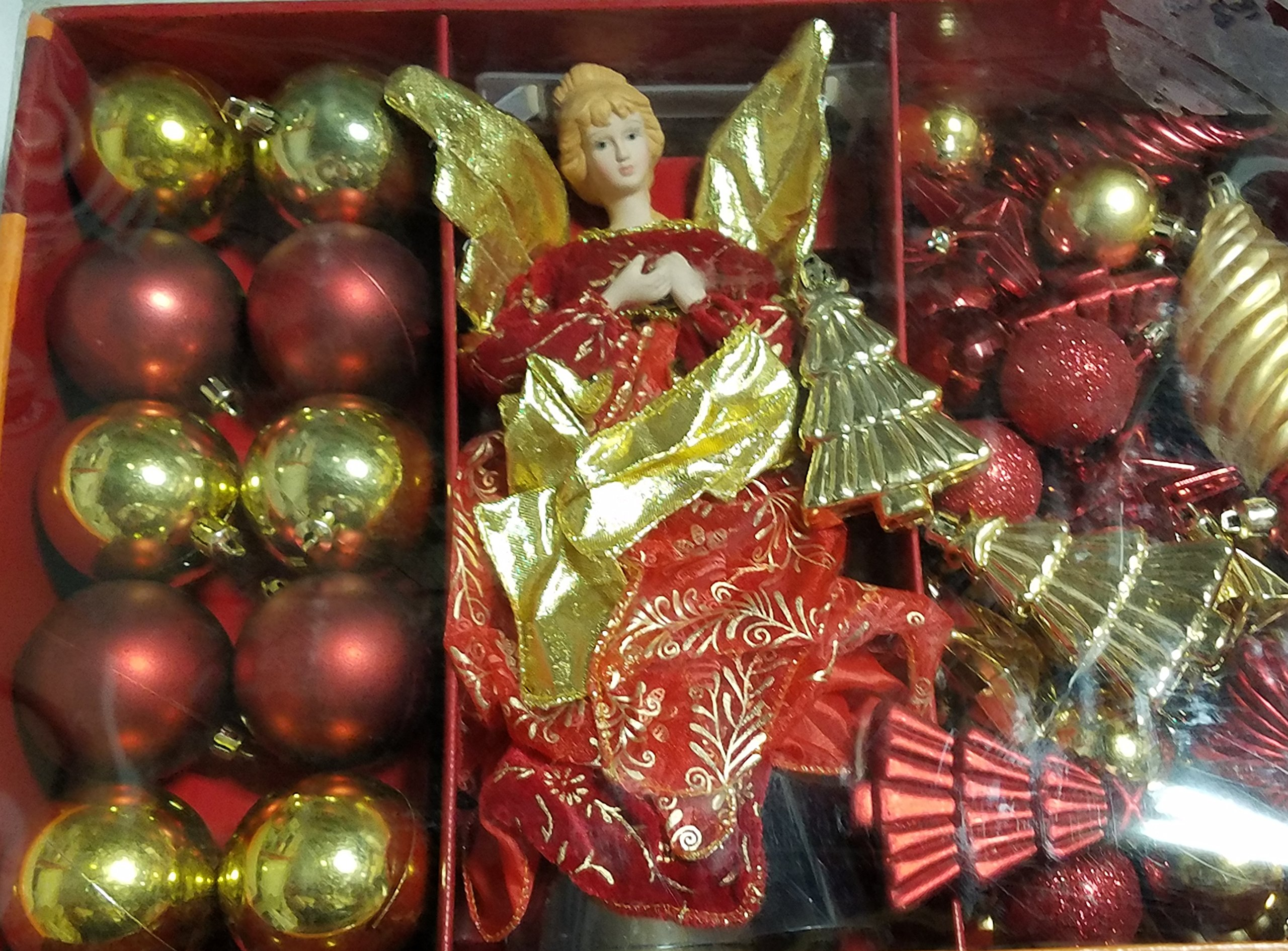50 Piece Home Accents Holiday Christmas Mix - Shatter Resistant Ornament Set