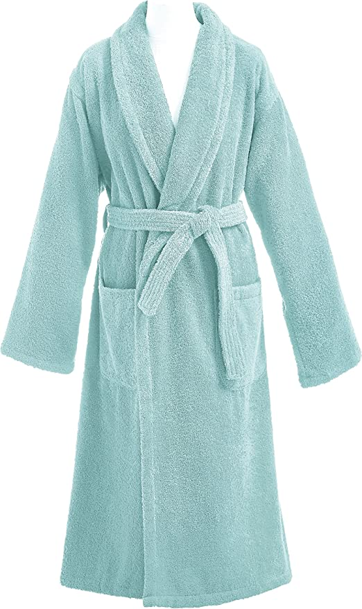 ESSIX 3359103034472 Aqua Albornoz de baño Esponja Azur/algodón, 50 x 105 cm: Amazon.es: Hogar