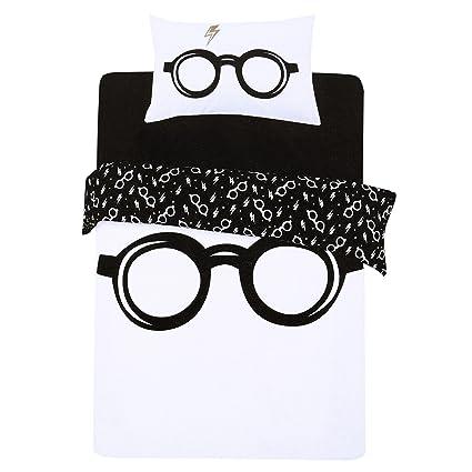 Juego De Cama Blanco Y Negro 135x200 Harry Potter Amazones Hogar
