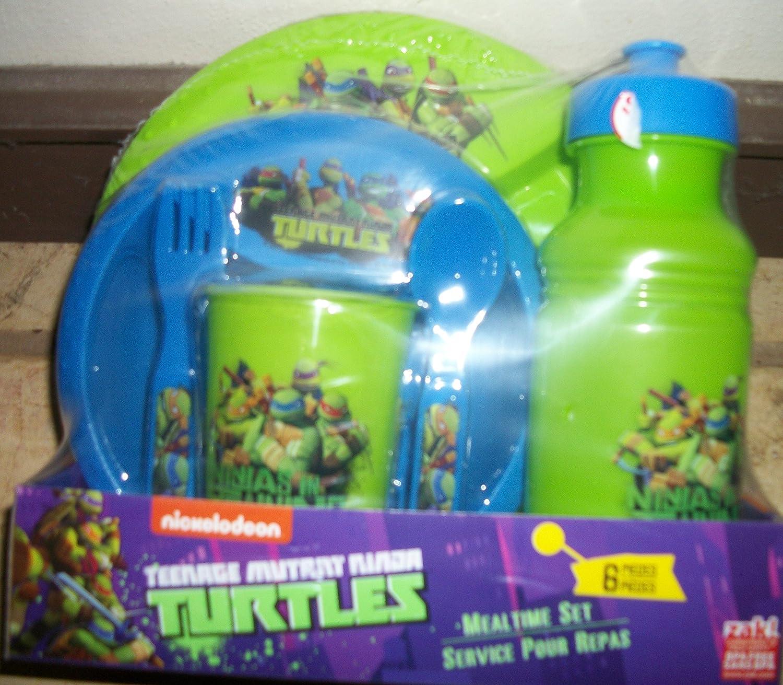Amazon.com : Teenage Mutant Ninja Turtle 6 Pc. Dinnerware ...