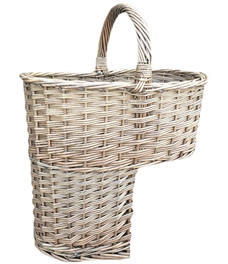 Choice Baskets Wicker Stair Basket Antique Wash