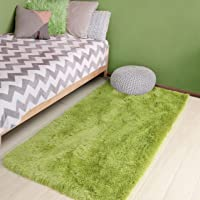 Grass Green Soft Rug for Bedroom,3'X5',Fluffy Area Rug for Living Room,Furry Carpet for Kids Room,Shaggy Throw Rug for…