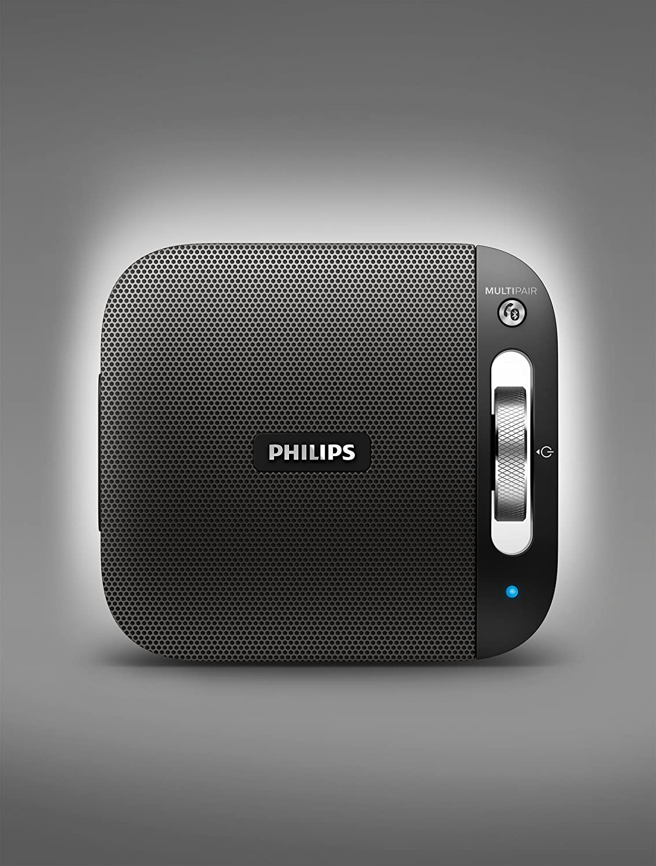 Philips BT2600B/00 - Altavoz portátil inalámbrico con Bluetooth (multipair, micrófono, batería recargable), negro: Philips: Amazon.es: Electrónica