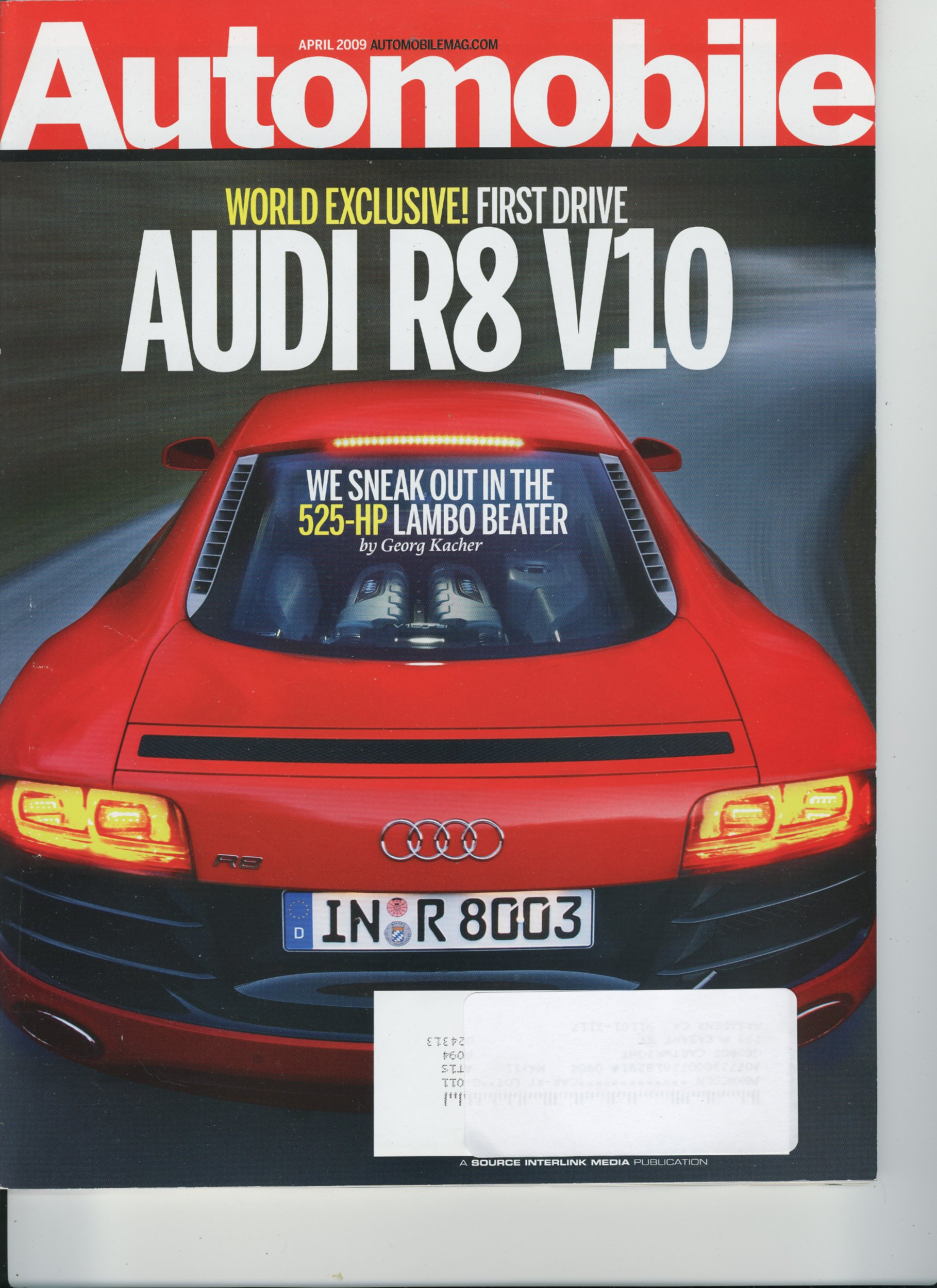 Download Automobile Magazine, April 2009 - Audi R8 V10, Audi TTS, Mini Cooper S Conv. PDF