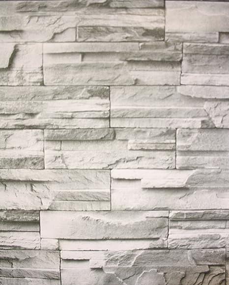 Rotolo di carta da parati autoadesiva, effetto muro di ...