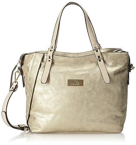 f2550c3c5 XTI Bolso Sra. C. Oro - Bolso de Hombro para Mujer, Color Dorado:  Amazon.es: Zapatos y complementos