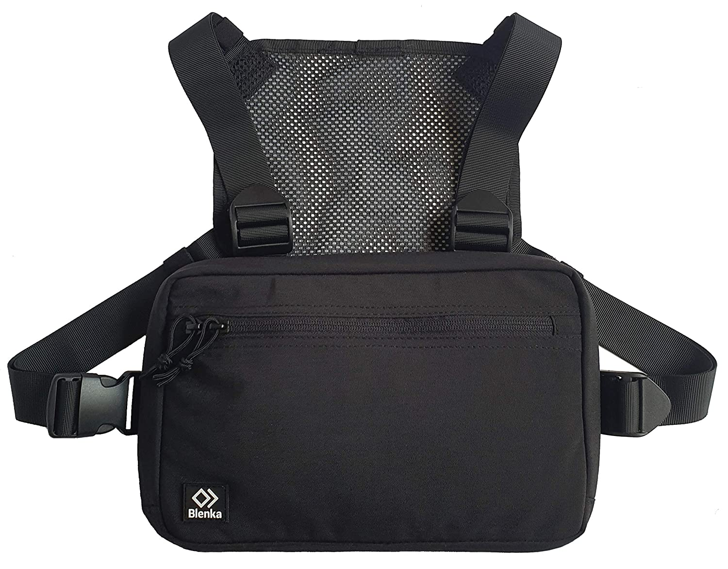 Blenka Lightweight Chest Pack Front Bag design great for Hiking, Running, Cycling, Climbing, Travelling and Tactical