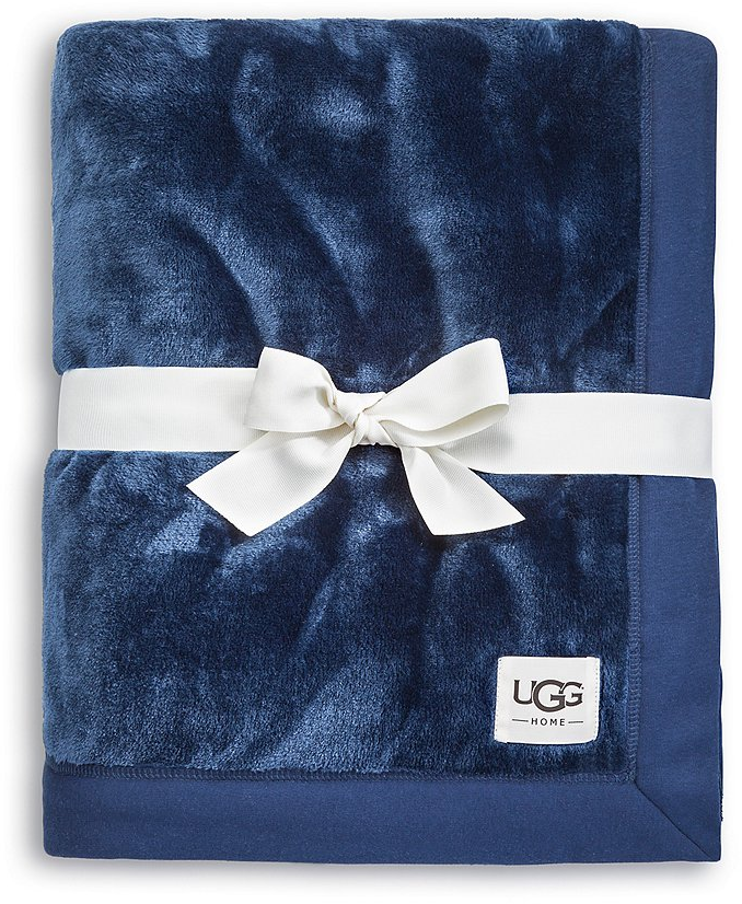 UGG® Duffield Jersey-Trimmed Plush Throw | Dillards