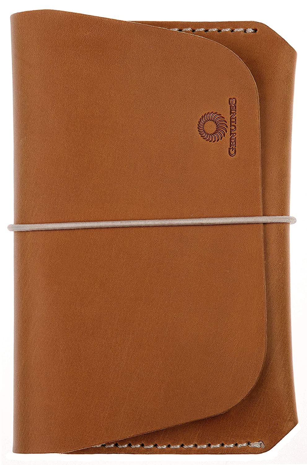 Leather Passport Holder for Men & Women - Genuines Wallet Case for 1 or 2 Passports (Cocoa brown)
