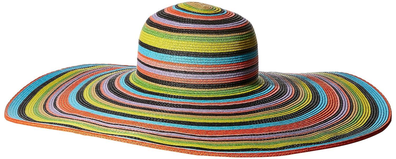 7b87524e1ef San Diego Hat Company Women s 8-Inch Brim Floppy Stripe Sun Hat at Amazon  Women s Clothing store