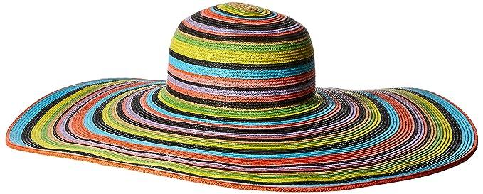 62308f440ee97 San Diego Hat Company Women s 8-inch Brim Floppy Stripe Sun Hat ...