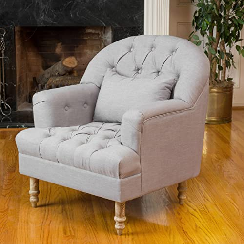 Christopher Knight Home Anastasia Tufted Chair, Grey