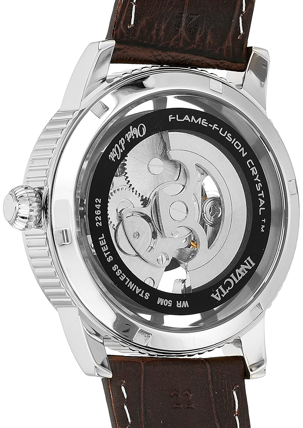 Amazon.com: Invicta Mens Objet dArt Stainless Steel Automatic-self-Wind Watch with Leather-Calfskin Strap, Black, 22 (Model: 22641: Invicta: Watches
