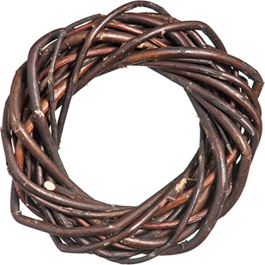 Prestige Wicker Natural Willow Chunky Wreath Large