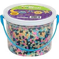 Perler Beads - cubeta de abalorio Multicolores Que Brillan en la Oscuridad, 5005 Unidades