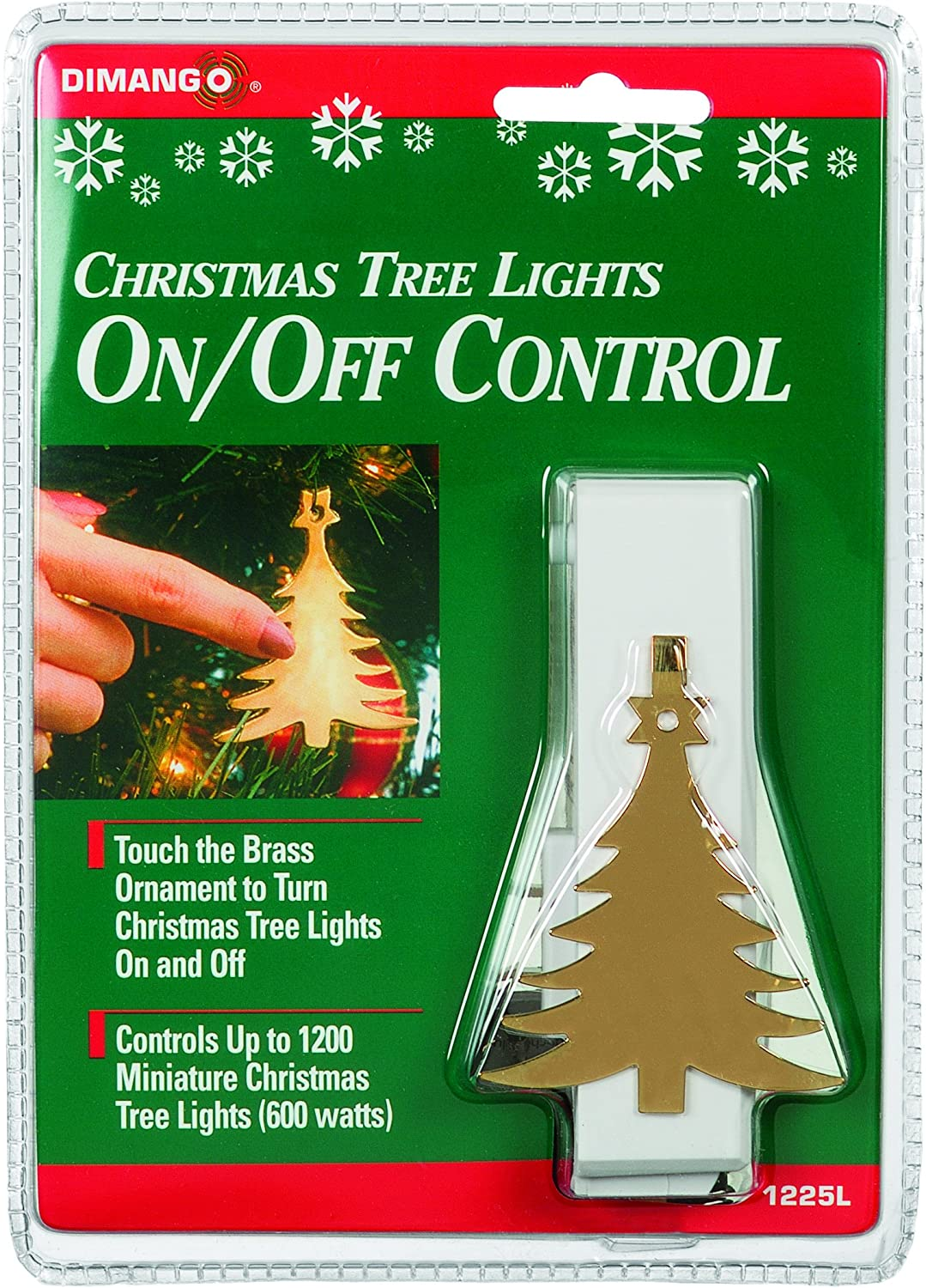 Xodus Innovations 1225LS Snowflake On//Off Touch Control Ornament for Christmas Tree Lights Carlon White Thomas and Betts