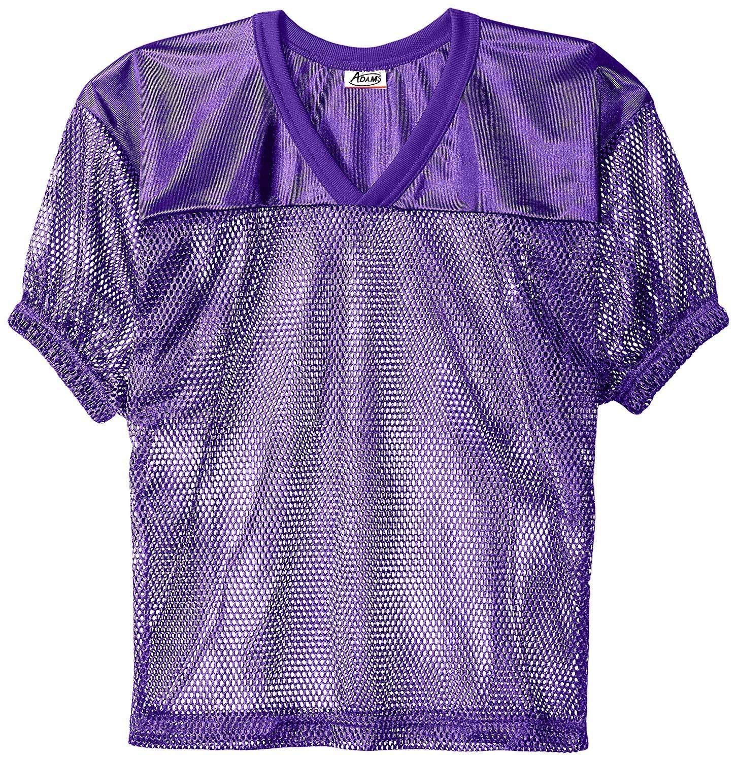 Adams USA FB Youth Jersey with Elastic Sleeve, Purple, L