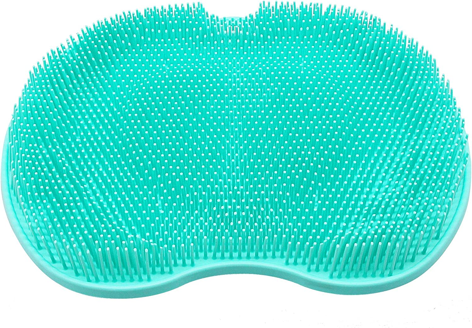 SinLoon Foot Brush Cleaner Feet Massager Foot Scrubber Shower Mat with Non-Slip Suction Cups and Soft Firm Bristles Exfoliation Improves Foot Circulation (Green Large)