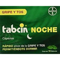 Tabcin Cápsulas Noche, 12 Piezas