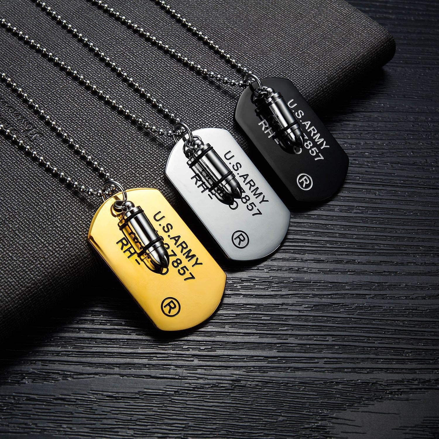 Hip Hop Rock Style Stunning Gifts for Him,21.65 Inch Chain Fashion Personality Bullet Pendant N/·XHXL Mens Stainless Steel Bullet Pendant Necklace