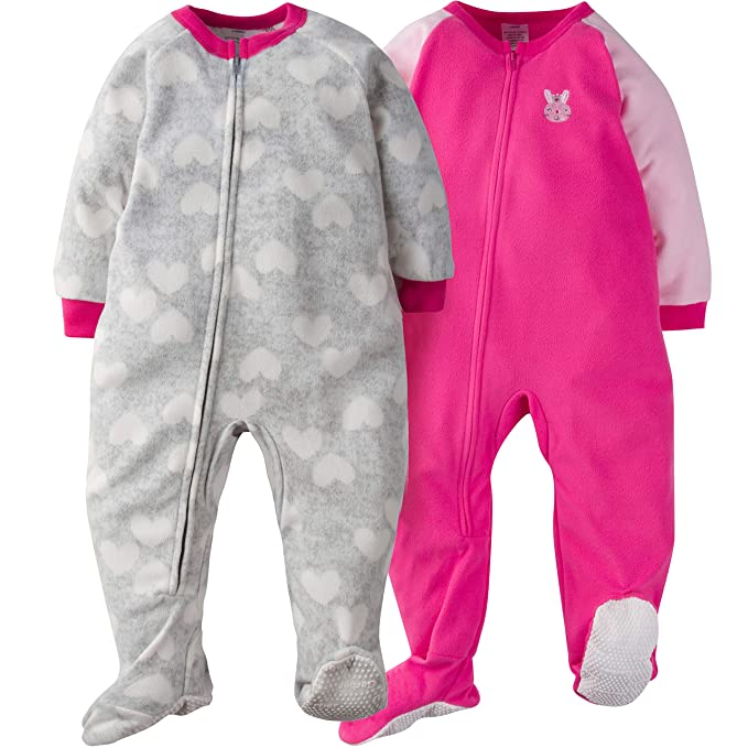 Amazon.com  Gerber Girls  2-Pack Blanket Sleeper  Clothing eea90b997
