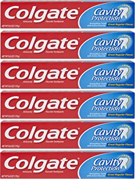 6-Pack Colgate Cavity Protection Toothpaste with Fluoride 6 Oz
