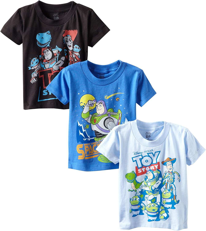 Disney Boys T-Shirts 3 Pack Short Sleeve