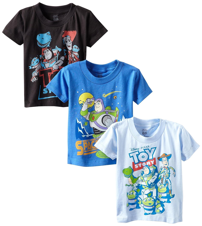 fed3e43b35a414 Amazon.com: Disney Boys' Toy Story 3-Pack T-Shirt: Clothing