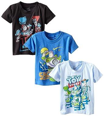 cdce8e50e0d0 Disney Little Boys' Toddler Toy Story 3 Pack T-Shirts, Multi, ...