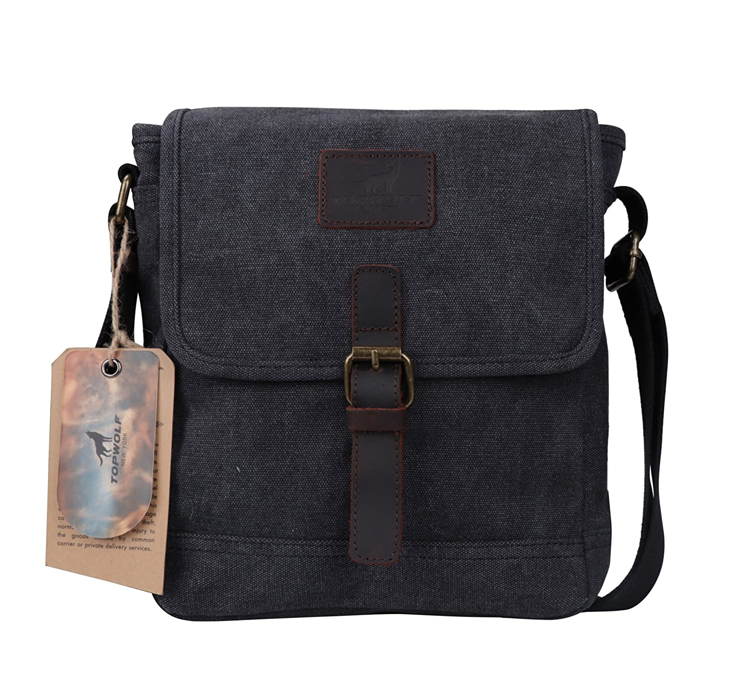 ed0577dc84 ... Easily Hold Phone Handset Key Sunglasses Black. low-cost Canvas  Crossbody Bag TOPWOLF Small Messenger Casual Travel Working Tools Bag  Shoulder Bag