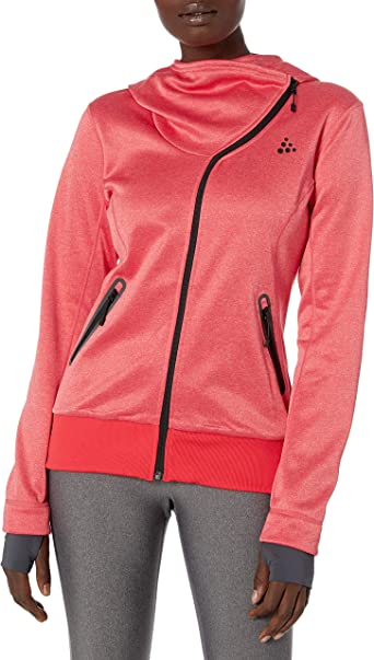 Craft Womens Sports Fleece Assymetric Zipper Training Jacket