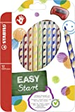 Ergonomischer Buntstift - STABILO EASYcolors - 12er Pack mit Spitzer - mit 12 verschiedenen Farben - für Rechtshänder