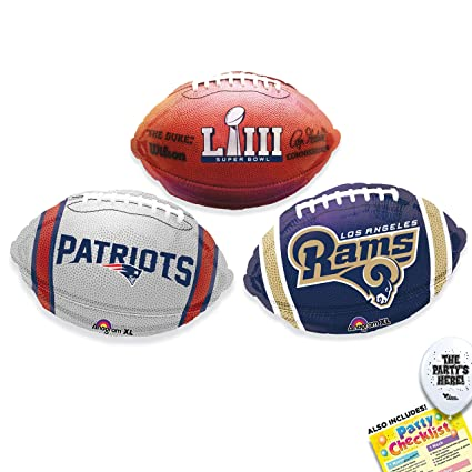newest 8050f 26e37 Super Bowl 53 Teams Kit - Los Angeles Rams vs New England Patriots NFL  Party Supplies Decorations Balloons - 4pc