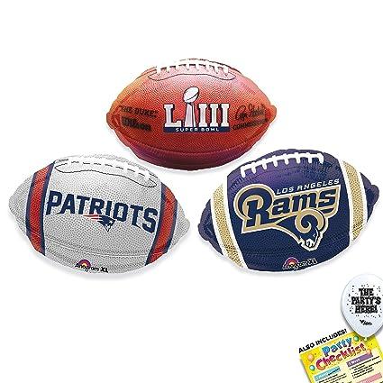 newest 42b2b c6852 Super Bowl 53 Teams Kit - Los Angeles Rams vs New England Patriots NFL  Party Supplies Decorations Balloons - 4pc