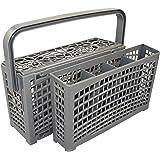 Il cestino per posate originale 2 in 1 universale per tutti i lavastoviglie, stabile connettore, divisibile, regolabile 23 x 8,5 + 4,5 x 13,5 cm, plastica rinforzata resistente al calore.