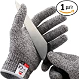 NoCry Cut Resistant Gloves for Kids - High Performance Level 5 Protection, Food Grade. Free Ebook Included!
