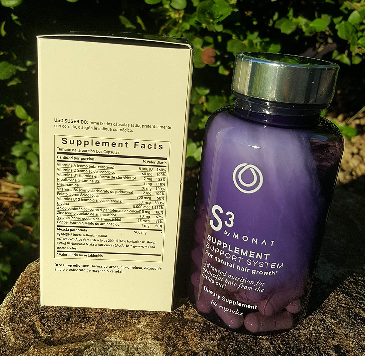 Amazon.com: Monat Hair S3 Supplement Support System for Natural Hair Growth (60capsules): Health & Personal Care