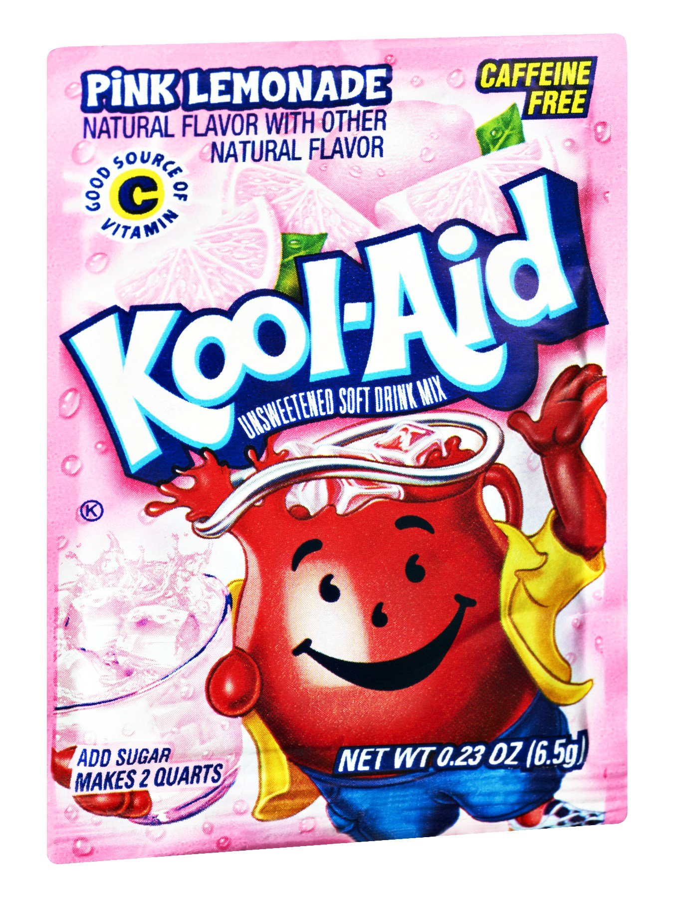 Kool-Aid Pink Lemonade Caffeine Free Unsweetened Soft Drink Mix, 0.23 OZ (Pack of 192) by Kool-Aid