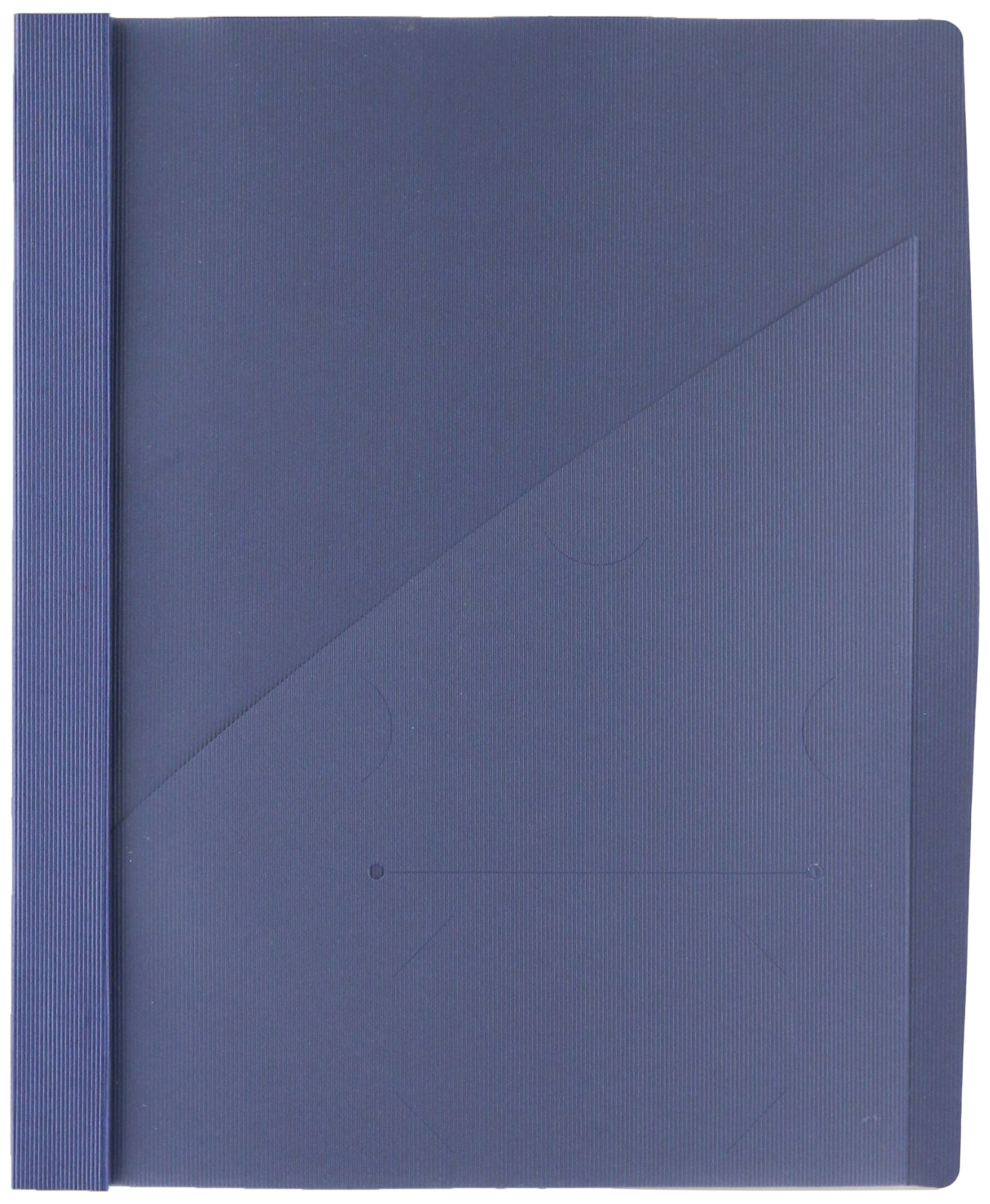 Wilson Jones Frosted Front Report Covers with Pocket, 3-Hole Punched, Dark Blue, 5 Covers per Pack (W71111C)
