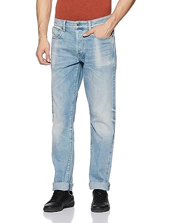47b26a760ff G-Star Raw Men's 3301 Tapered Fit Jean in Nippon Stretch Denim, Light Aged