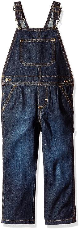 Wrangler Authentics Toddler Boys' Denim Overall, ocean deep, 5T best toddler jeans