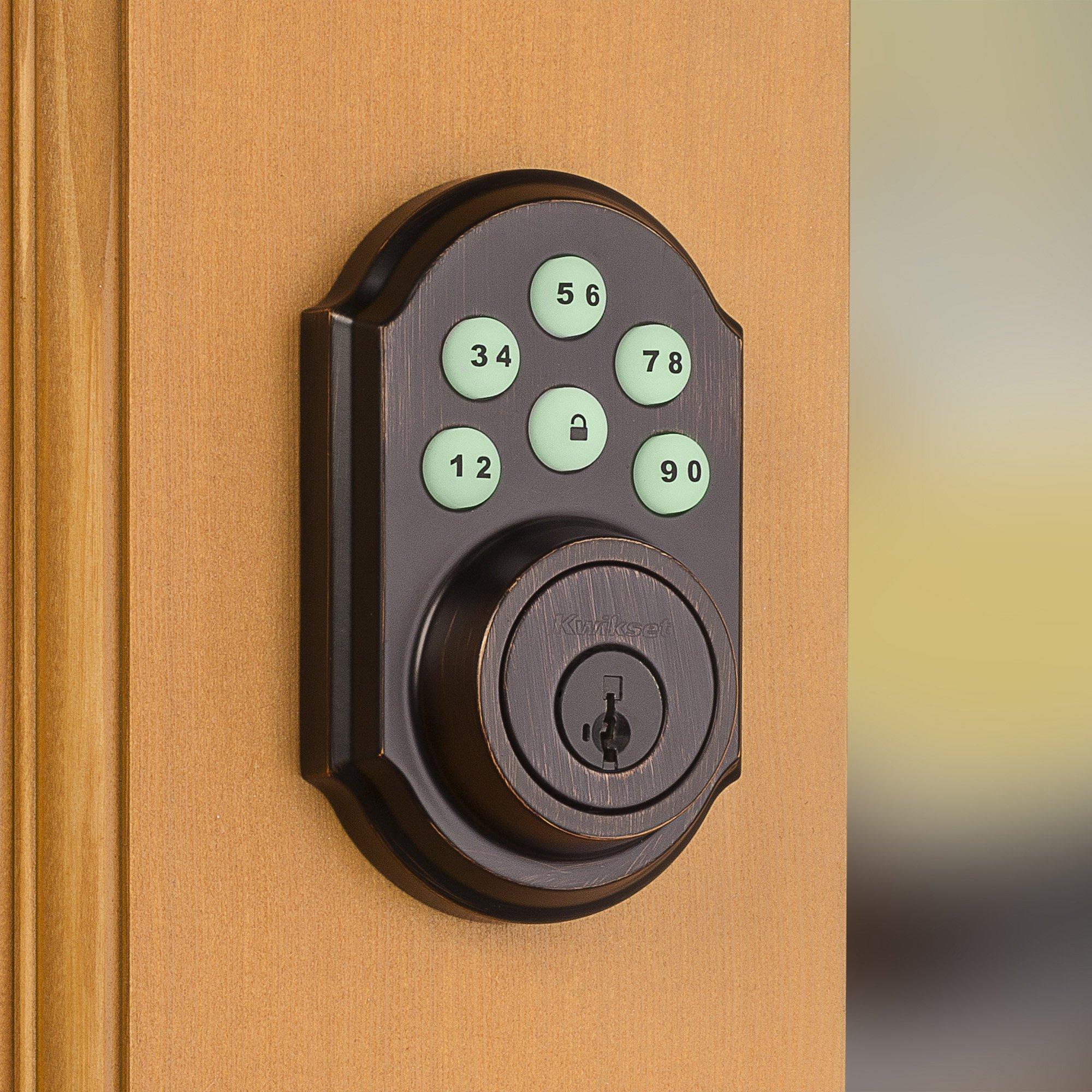 Kwikset 99100-045 SmartCode ZigBee Touchpad Smart Lock works with Echo Plus & Alexa, featuring SmartKey, Venetian Bronze by Kwikset (Image #5)
