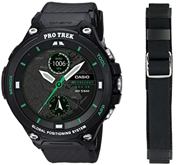 1e49499fa6bf Amazon.com  Casio Smart Watch WSD-F20X-BKAAU Protrek Smart Limited Edition  Winter pack  Watches