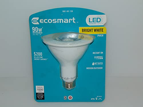 EcoSmart 90W Equivalent Bright White 3000K PAR38 LED Flood Light Bulb