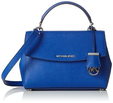 Michael Kors Women's Ava Small Tophandle Handbag Blue Size ...