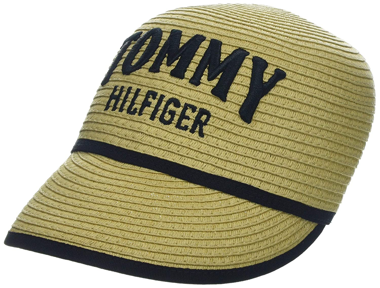 para Mujer Talla del Fabricante: OS Natural 901 Tommy Hilfiger Straw Cap Gorra de b/éisbol /única Beige