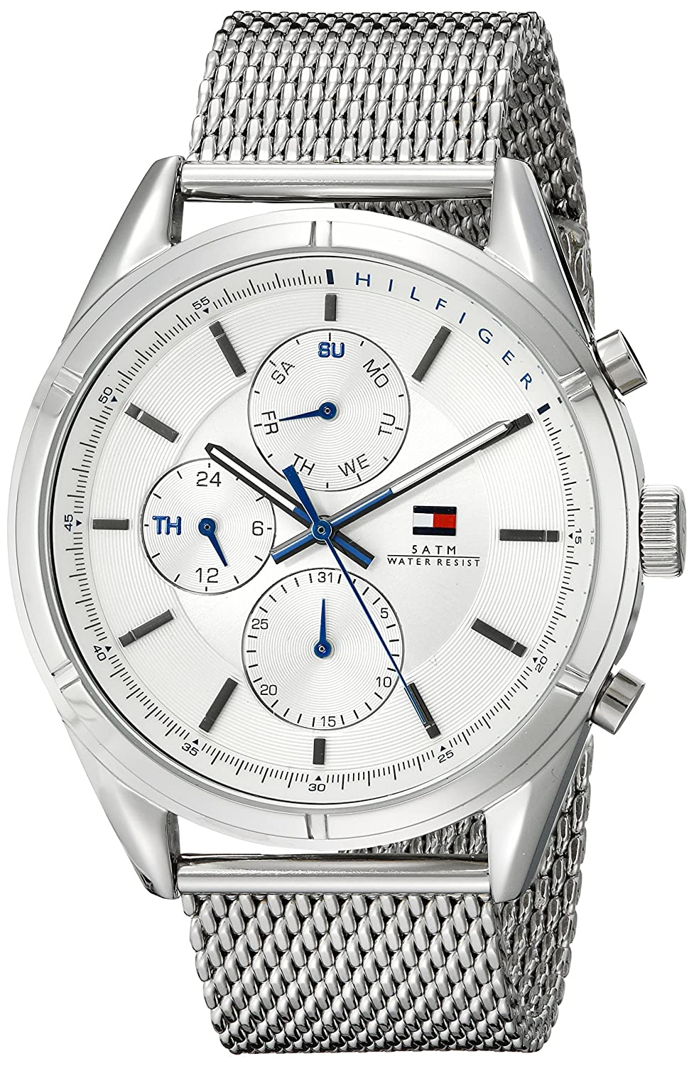 Buy Tommy Hilfiger Men S 1791128 Sport Lux Silver Tone Stainless